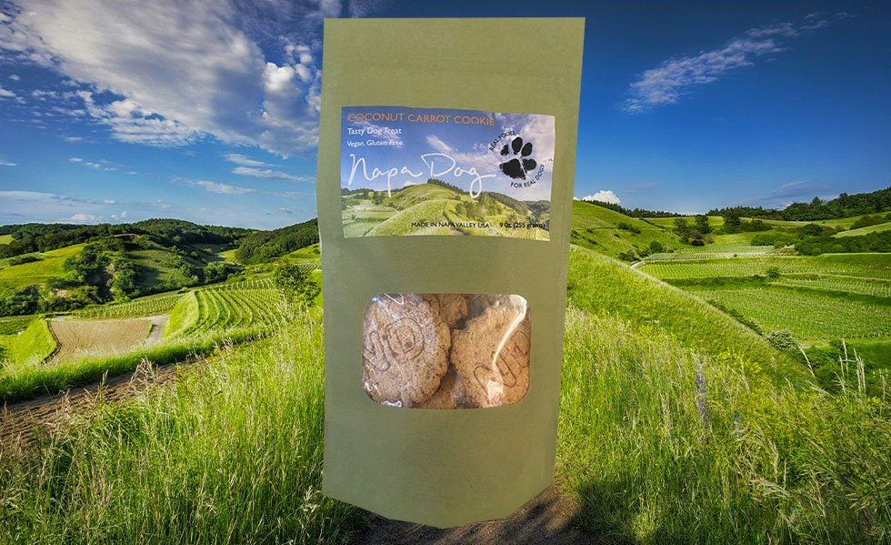 Coconut Carrot Cookie - Napa Dog's exceptionally healthy organic vegan dog cookie