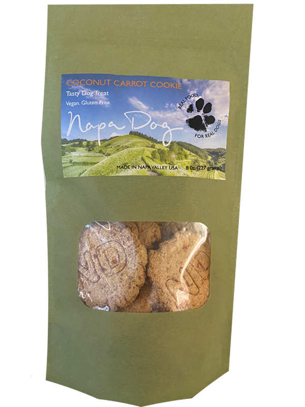 napa dog coconut carrot cookie